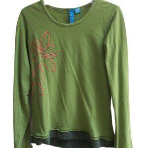 Green Layered Look Shirt Girl Size 14